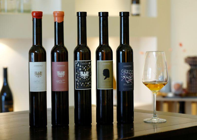serving and drinking ice wine